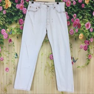 Levi's 501 Button Fly Vintage White Jeans 34/32